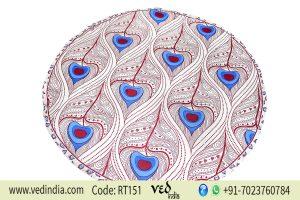 Hippie Bohemian Round Beach Tapestry Morpankh Design-0