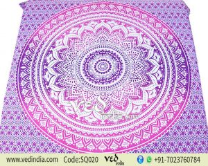 Cheap Hippie Wall Hanging Tapestry Bed Throw Pink Purple Ombre -0