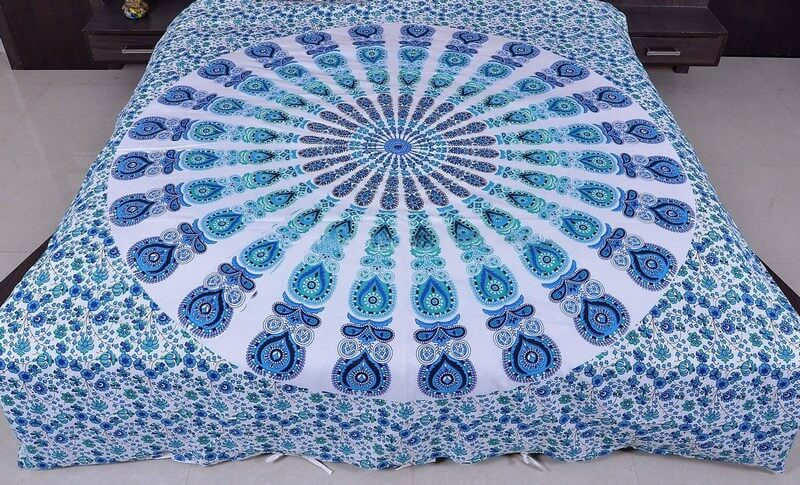 Mandala Print Duvet Cover Set with 2 Pillow case in Queen Size-3968