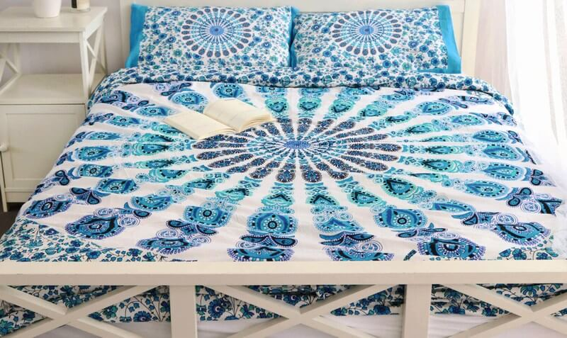 Mandala Print Duvet Cover Set with 2 Pillow case in Queen Size-3969