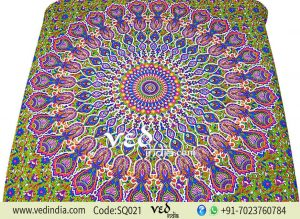 Hippie Boho Wall Tapestry Colorful Cotton Bed Sheet-0