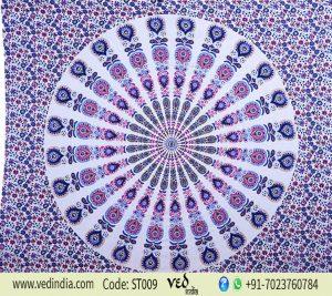 Tie Dye Hippie Medallion Mandala Tapestry Single Size-0