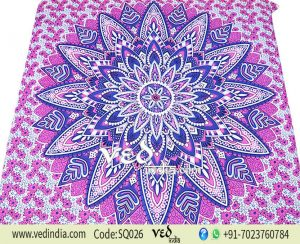Indian Mandala Hippie Tapestry Ombre Floral | Dorm Room Bedding -0