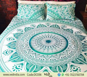 Indian Ombre Duvet Cover Set With 2 Matching Pillowcase -0