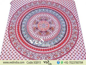 Large Bohemian Mandala Tapestry in Animal Birds | Wholesale Bedspreads -0