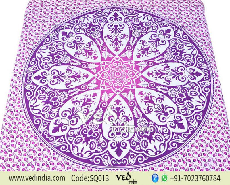 Large Hippie Dorm Tapestry Wall Hanging in Purple Floral-0