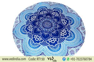 Large Round Lotus Flower Mandala Beach Blanket Tapestry-0