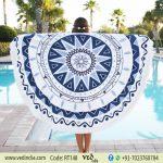 Lulu Cotton Round Beach Towel | Roundie Tapestry-0