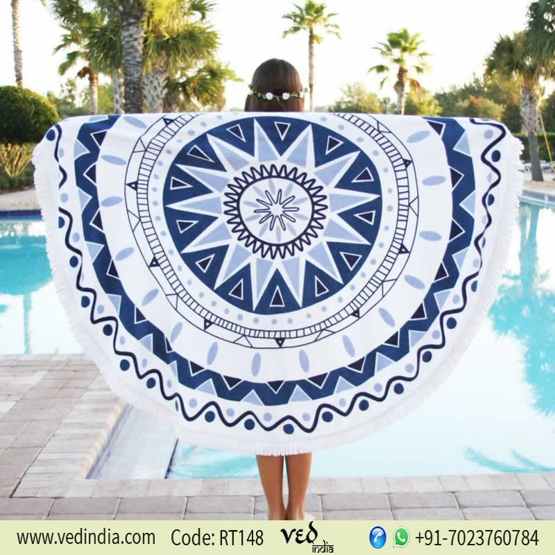 Lulu Cotton Round Beach Towel | Roundie Tapestry-0