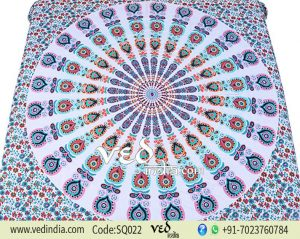 Best Mandala Bed Sheet Tapestry | Peacock Hippie Bedding-0