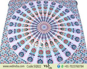 Best Mandala Bed Sheet Tapestry | Peacock Hippie Bedding-0