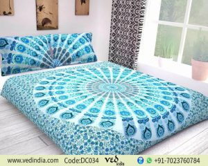 Mandala Print Duvet Cover Set with 2 Pillow case in Queen Size-0