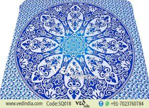 Mandala Tapestry Blue Floral Hippie Bohemian Wall Hanging-0
