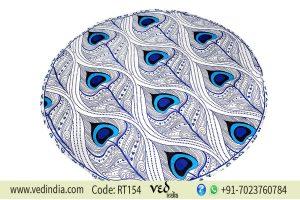 Mandala Throw Beach Blanket Tapestry With Morpankh Print-0
