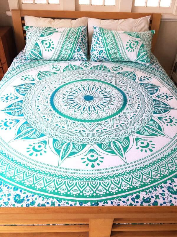 Indian Ombre Duvet Cover Set With 2 Matching Pillowcase -3973