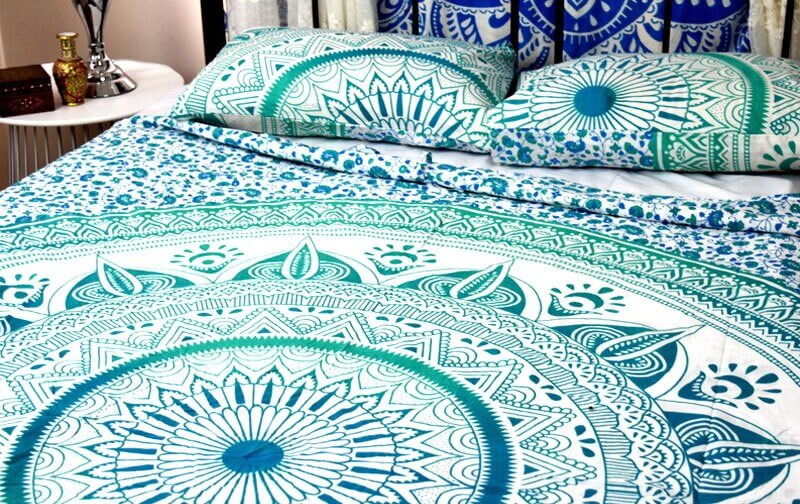 Indian Ombre Duvet Cover Set With 2 Matching Pillowcase -3974