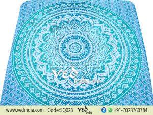Ombre Sea Green Mandala Tapestry Bohemian Wall Décor-0