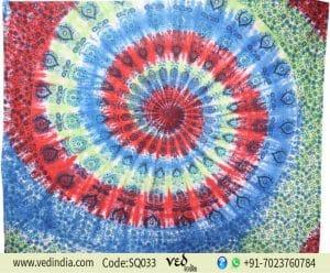 Indian Peacock Mandala Tapestry Bed Throw Sheet -0