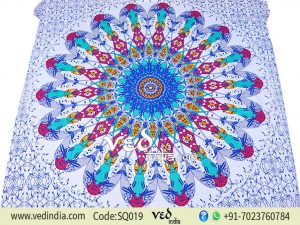 Round Circle Mandala Tapestry Wall Hanging-0