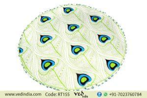 Round Mandala Cotton Beach Rug Tapestry Morpankh Patterns-0