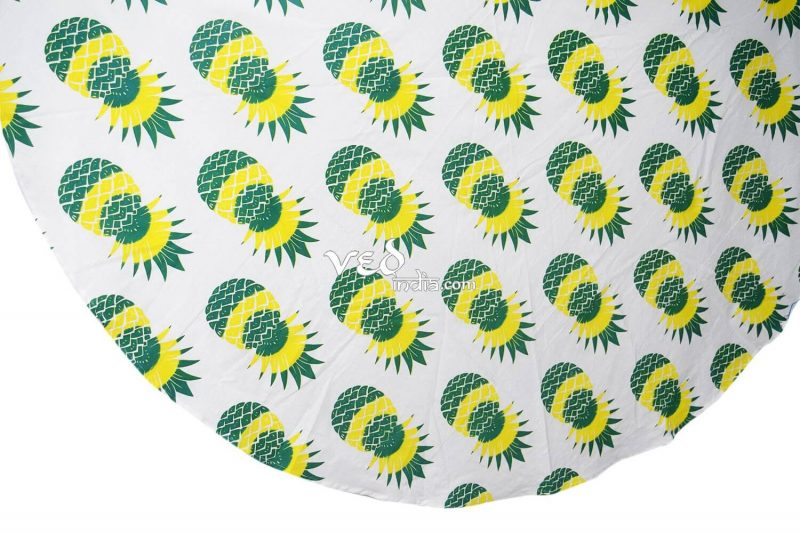 Pineapple Bohemian Round Roundie Beach Throw Tapestry-3883