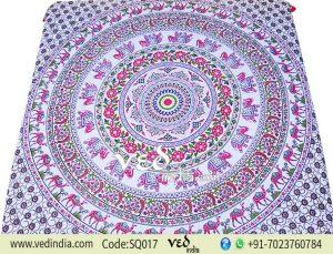 Tie Dye Hippie Boho Wall Tapestry in Elephant Camel Pattern -0