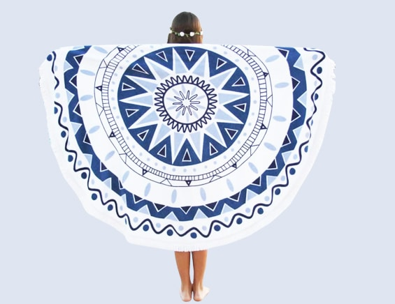 Lulu Cotton Round Beach Towel tapestry